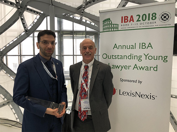 IBA Outstanding Young Lawyer Award 2018